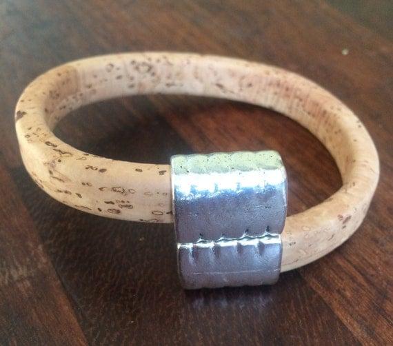 Portuguese Cork magnetic clasp bracelet