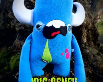 Big plush monster,  cute kawaii creature, soft toy.  Big Eugene from the Man made Monster Co.