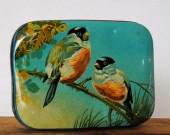 Vintage Blue Bird Toffee Tin