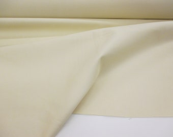 "Ivory/Cream 54"" Polycotton Sateen Curtain Lining Fabric. (slight seconds)."