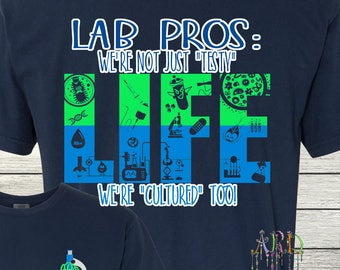 Monogrammed Laboratory Technician Lab Tech Scientist Lab Pros