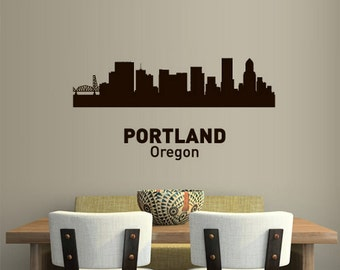Portland Wall Decal Etsy - Custom vinyl decals portland oregon