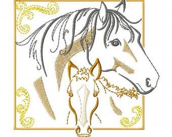 MARE & FOAL - Machine Embroidery Design
