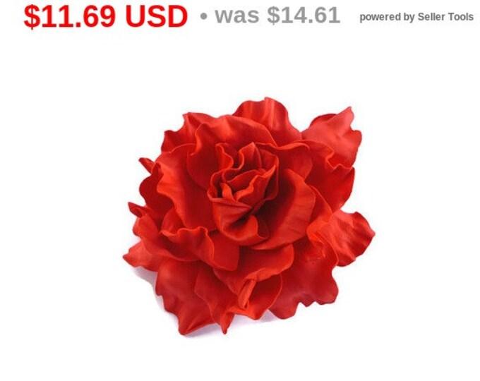 Valentine Rose Hair Clip Red Rose Hair Clip Wedding Rose Hair Clip Flower Hair Clip Rose Floral Hair Clip Red Rose Clip Floral Rose Bridal