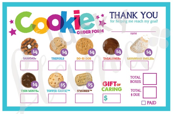 Amazing image throughout girl scout cookie order form printable