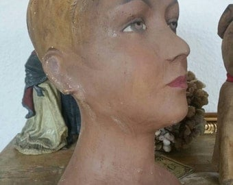 Antique head of a mannequin mannequins