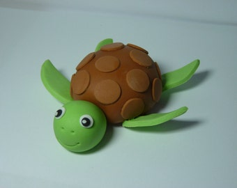 Turtle Tortoise Edible Sugar Paste Decoration Cake Toppers Decoration Birthday
