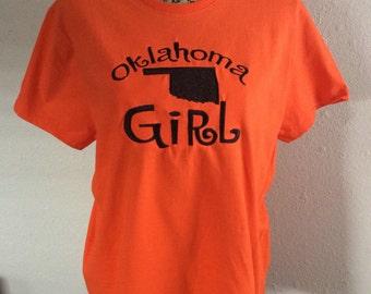 Oklahoma Girl OSU colors