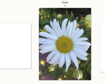 Daisy notecard