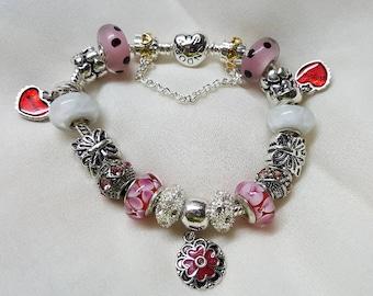 MOTHER AND DAUGHTER sterling silver bracelet