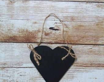 Chalkboard  shaped heart hanging,