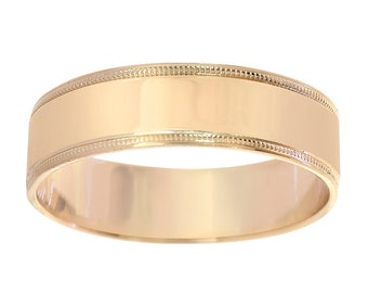 6.3mm 14K Yellow Gold Comfort Fit Wedding Band