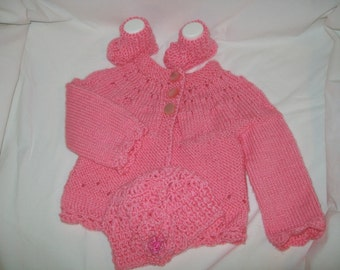 Baby Sweater Set 3-6 Months