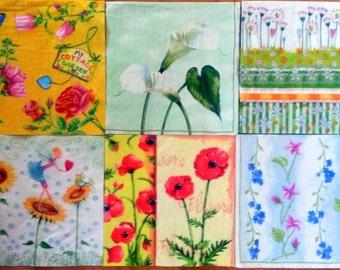 Paper napkin for decoupage, 6 pcs napkin set, decoupage serviettes, paper napkins, floral napkins, floral serviettes, art&craft, flower art