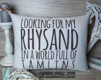 ACOTAR - ACOMAF - Looking for my Rhysand - for bookworms - hand made decorative pillow