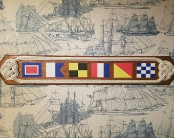 Nautical Flag Name Plaque