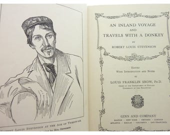 Inland Voyage Travels with a Donkey  Robert Louis Stevenson 1911 Vintage book