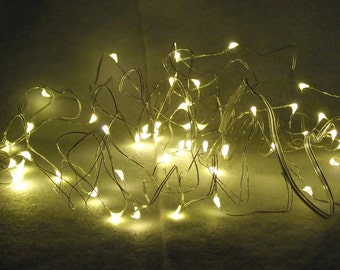 16' Strand of Warm White Fairy Lights - Decorative, Colorful LIghts For Anywhere - Operate on 3 AA Batteries
