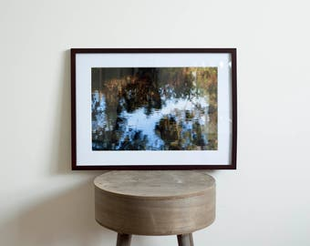 Watercolour River Reflections Framed Photograph