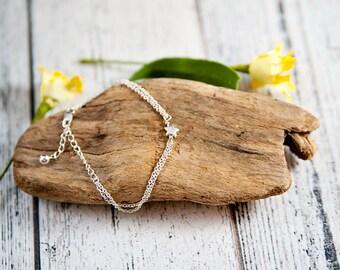 Star bracelet, Dainty Star Bracelet, Dainty Bracelet, Tiny Star Bracelet, Simple bracelet, delicate bracelet, tiny star, star bracelet