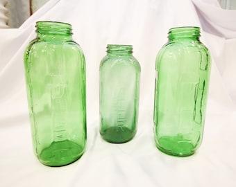 Forest Green Vintage Embossed Water/Juice Refrigerator Bottle