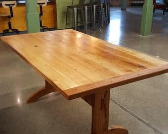 Reclaimed Trestle Table