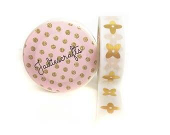 Gold Foil Flower Washi Tape