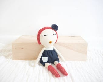 Mini Rag Doll with Red Hair