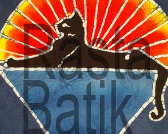 Grateful Dead Jerry Garcia Cats hand made batik.