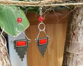 Repurposed Art Deco earrings