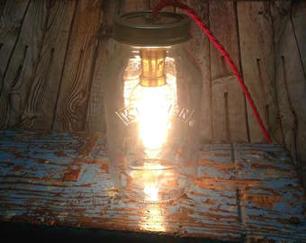 Kilner Jar bedside lights