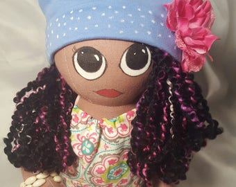 18 inch custom rag doll with handmade outfit
