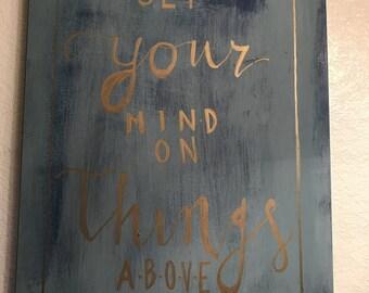 Scripture art wall decor