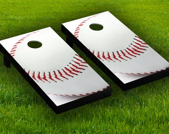 baseball cornhole board wraps laminated sticker set skin decal - Cornhole Board Wraps