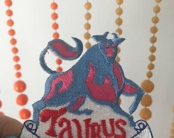 Vintage Taurus Zodiac Sign patch