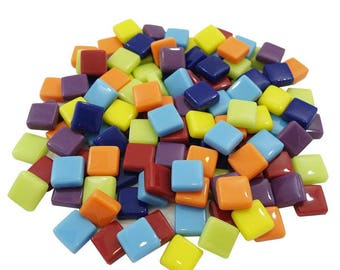 "Squares Mosaic Glass 9/16"" Mix"