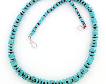 Natural Blue Turquoise Necklace KT4244
