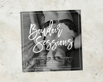 Boudoir Session Template, Photography Marketing Template, Boudoir Mini Session Template, Square