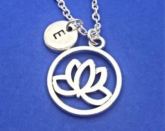 Lotus Flower Necklace, Flower Charm, Lotus Flower Jewelry, Customized,Personalized, Lotus Flower, Spirit Necklace Gift, Flower Necklace Gift