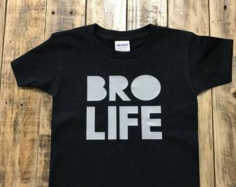 Bro Life Big Brother Shirt, Proud Big Brother, Sibling Shirt Toddler Shirt
