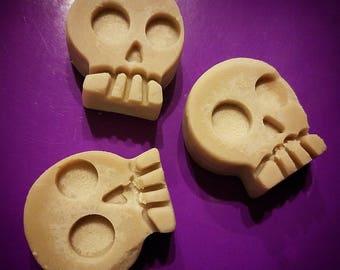 Wake the Dead Espresso Wax Melts || 3pc Skull set- beautiful shimmering melts- Coffee Lovers Giftset