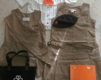 70's Vintage GSA Brownie Scout Uniform Collection