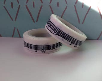 Black and White Music Sheet Washi Tape