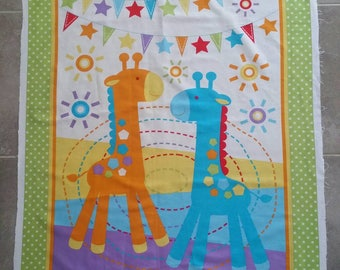 DIY Giraffe Quilt Kits, Sew your own quilt/blanket , 5 Easy Instructions
