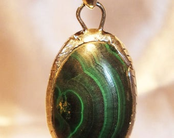 Malachite silver sterling jewels pendant HOMEMADE