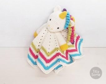 Sweet Unicorn Lovey Pattern | Security Blanket | Crochet Lovey | Baby Lovey Toy | Blanket Toy | Lovey Blanket PDF Crochet Pattern