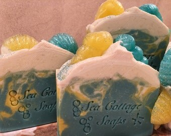 Mermaid Kisses Artisan Cold Process Bar Soaps-Vegan, Avocado Oil