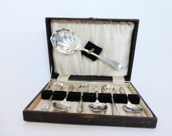 Vintage Boxed Set of Dessert Spoons