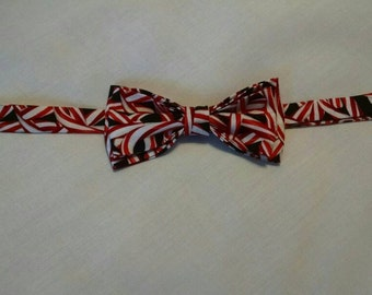 Adjustable Candy Cane bowtie