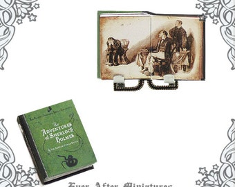 1:12 Adventures of SHERLOCK HOLMES Miniature Book – Conan Doyle Sherlock Holmes Dollhouse Miniature Sherlock Holmes Book Printable DOWNLOAD